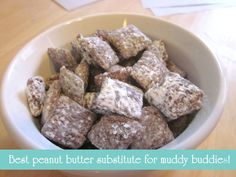Embellishing Life: Have you tried this spread? I'm addicted {Nut free muddy buddies}