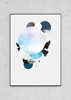Scandinavian limited edition prints, posters and art products. Blue Walls, Limited Edition Prints, Artwork Prints, Copenhagen, Scandinavian, Artsy, Poster, Inspiration, Design