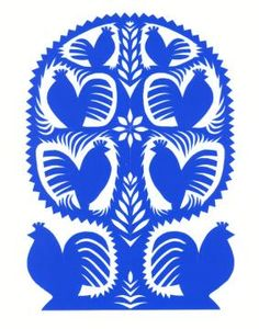 Polish folk paper cutting - Kołbiel region