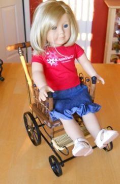 Wooden Wheelchair Fits American Girl 18in Dolls