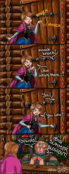 Frozen: Knock knock joke by OdieFarber