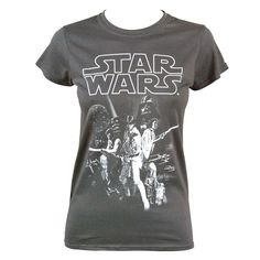 a15b01bec3624b Womens Star Wars A New Hope Vintage Poster Crew Neck T Shirt A New Hope