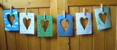 Cartes coeurs - Avec 10 doigts...