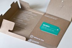 Great packaging! Creative resume, or could be a media kit with business card slits.