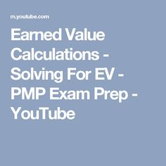 Pmp exam prep 8th edition pdf by rita mulcahy free full download earned value calculations solving for ev pmp exam prep youtube fandeluxe Image collections