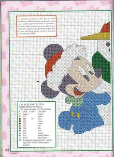 Baby Mickey & Minnie w/ snowman 1 of 2