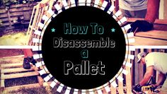 How to disassemble a pallet - the 2 easiest methods: cutting and prying. We'll show you both.