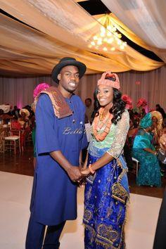 BellaNaija Bride Sonume &  Groom Obi  Photography by The Villagio Nigerian Wedding Makeup rivers wedding  coral beads naija bride hat