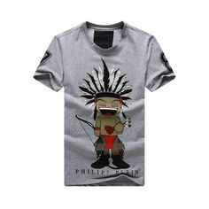 Philipp Plein PP Men Short Sleeve Casual T-Shirt, Fashion tees For Men, 100% Cotton, Have Rhinestones