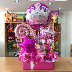 ✨ Happy Birthday, Princess ✨ Girl Gift Baskets, Birthday Gift Baskets, 1st Birthday Photos, Birthday Candy, Happy Birthday Balloons, Birthday Gifts For Girls, Birthday Ideas, Happy Birthday Princess, Little Girl Birthday