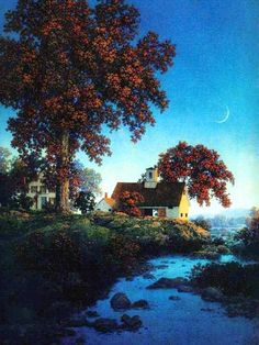 Maxfield Parrish - New Moon