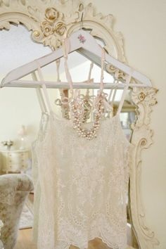 ⚜ I'm a true romantic at heart. I adore all things frilly, delicate, and feminine. Vintage Boutique, A Boutique, French Boutique, Boudoir, Pearl And Lace, Linens And Lace, Shades Of White, Vintage Lace, Vintage Heart