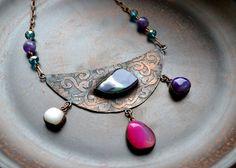 Bright copper necklace от TanyaKolyada на Etsy