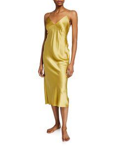 OLIVIA VON HALLE-tops-ISSA HONEY SILK NIGHTGOWN. #olivia-von-halle #tops Olivia Von Halle, Silk Nightgown, Sleep Dress, Satin Slip, Silk Charmeuse, Issa, Dress Outfits, Dresses, Night Gown