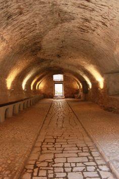 The amazing #stables of the #Castle of Sermoneta Latina , Lazio Italy