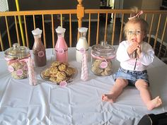 milk and cookies first birthday party.