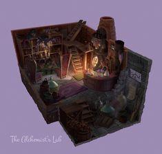The Alchemist's Lab, Cathleen McAllister on ArtStation at https://www.artstation.com/artwork/1EAOK