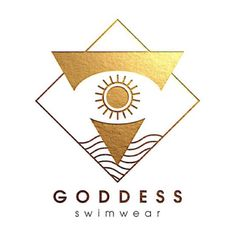 I am thrilled to introduce the official Goddess Swimwear logo and love how it represents our brand!   ☀️The sun and water encompass our love for nature and what bikini life is all about - salt water, fresh air, and abundant sunshine. ☀️  The triangle indicates an upward expansion of consciousness AND a bikini.   The eye represents the third eye chakra Anja, which allows us to access the inner guidance that comes from the depths of our being... and who can't help but check out