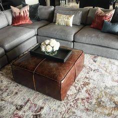 Moroccan Leather Pouf, Moroccan Pouf, Moroccan Style, Square Pouf, Square Ottoman, Microsoft, Pouf Footstool, Pouf Chair, Vinyl Decor