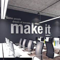 Make it Happen, 3D, Office, Wall, Art, PVC, Typography, Decor, Inspirational, Motivational, Work, Sucess, Decals, Stickers Apply this Make it Happen 3D Office Wall Art in any flat surface (walls, windows, etc). If you are looking for a piece of art in you office walls Make it Happen