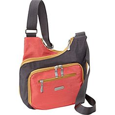 baggallini Criss-Cross - Color Block - Charcoal/Coral - via eBags.com!