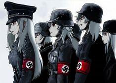 Nazi zombie girls from movie DØD SNØ(dead snow)