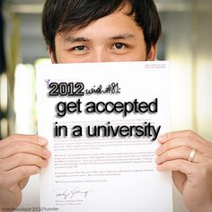 This was always on my bucketlist. But now I'm accepted to one the best universities