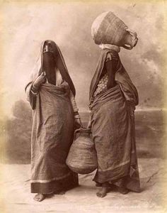 Women carrying water, Egypt, circa 1880.