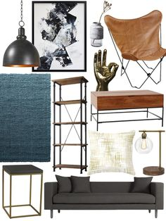 HEY MIKE: Create the Look: Warm Industrial Living Room Shopping Guide