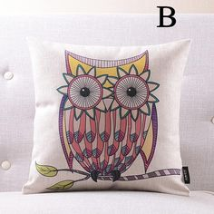 Cartoon animals owl pillows for couch