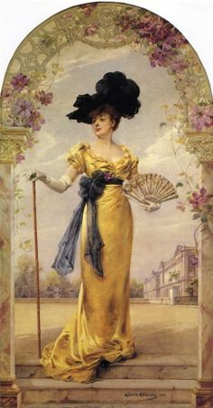 1905 ~ Portrait of Madame Duvelleroy by Louise Abbéma _ (vintage lady, edwardian era) Victorian Art, Victorian Women, Edwardian Era, Vintage Pictures, Vintage Images, Vintage Photographs, Women Artist, Woman Painting, Vintage Prints