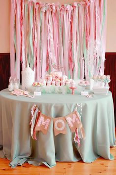 Love the colors and style would be cute for bridal shower, baby shower, and even little girls birthday party!!