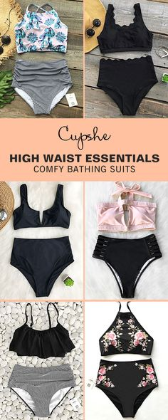 Walk or sit down nearby the sea, they're awesome. You must need delicate bathing suits like these. Enjoy a fun getaway with our high-waisted swimsuits. Be stunning and hit the whole beach. FREE shipping! Check them out.