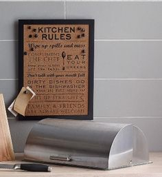 Kitchen Rules Pin Board from Next