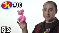 One Balloon Pig - Balloon Animal Lessons #10 (+playlist)