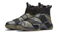 7802cdc59f1 Nike LeBron Zoom Soldier 10 SFG - Black Medium Olive Bamboo Nike Lebron