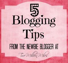 5 Blogging Tips {Part 2}