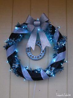 Knobby Tire Christmas Wreath | Fuzzygalore.com