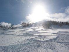 Backside of Niseko ski resort