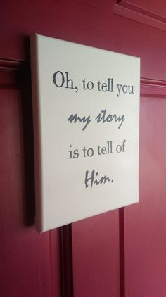 My Story Hand-Painted Canvas by SimplicitySpeaking on Etsy
