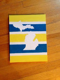 University of Michigan DIY canvas painting #DIY #uofm #goblue