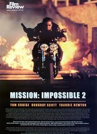 I love everything about this movie.  I discribe it as a sexy action movie.  Def BEST of the series.   #Mission Impossible 2