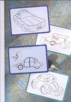 Cantecleer - Borduren op Papier voor elk wat wils - Elife Genc - Picasa Webalbum Card Patterns, Coasters, Embroidery, Frame, Stitching, Cards, Transport, Elk, Truck