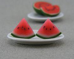 Watermelos Polymer Clay Earrings - Aretes de arcilla polimérica, sandía
