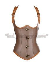 Steampunk Steel boned Lace up Underbust Corset Waist training Cincher 6-20 22 24