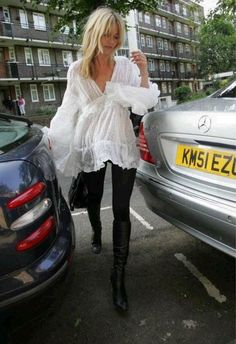 kate moss poet blouse sheer lace boho hippie chic