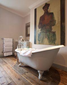 The Cambridge Bath at The Wheatsheaf Inn http://www.cphart.co.uk/cp-hart-cambridge-freestanding-bath/ #bathrooms #classicbathrooms
