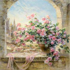 Hot fotos sem moldura pintura por números DIY pintura a óleo Digital sobre tela cena janela flores decoração 40 x 50 em Pintura & caligrafia de Casa & jardim no AliExpress.com | Alibaba Group