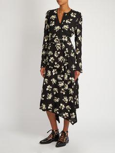 Floral-print crepe-georgette dress | Proenza Schouler | MATCHESFASHION.COM US