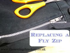 How to put in a new fly zip the correct way